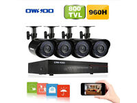 CCTV Surveillance DVR + 1TB hard drive + 4/8*Outdoor/Indoor Infrared Bullet Camera + 4/8*60ft Cable