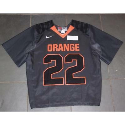 Nike Syracuse Orange  22 Lacrosse Vapor Carbon Game Jersey Lg Gait Powell