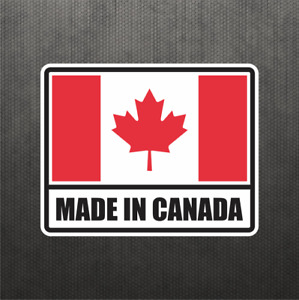 Made In Canada Vinyl Decal Sticker Canadian Maple Leaf Flag Jeep