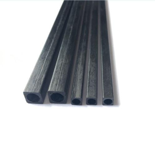 3*3-10*10mm L:25-50cm Square Carbon Fiber Square Tube Pipe Round Hole Pole Fast