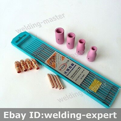Tig Welding Torch Consumables Tig 9 Wp 9 20 25 Series Tig Tungsten Electrode Kit
