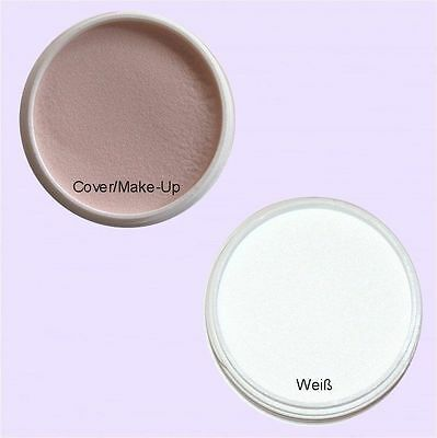 Weiße Make-up Pulver (2x 10g Acryl Pulver Acryl Puder Weiß French / Cover Make-Up)