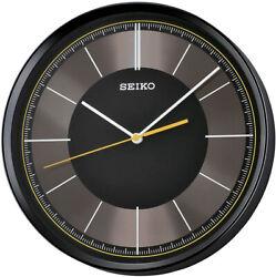 Seiko Monroe 12 Quartz Black Case Quiet Sweep Wall Clock QXA612KLH