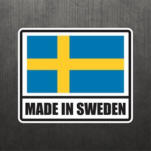 Made In Sweden Vinyl Decal Bumper Sticker Volvo V60 S60 S90 Saab