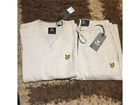 Lyle & Scott grey tracky men's small tracksuit sweats sweater active wear outdoors