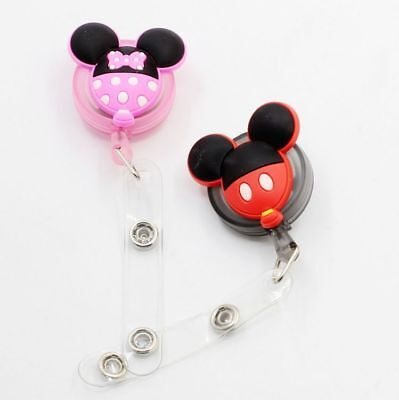 Cartoon Mickey Minnie Mouse Retractable Card Badge Holder Lanyard Name For - Minnie Mouse For Adults