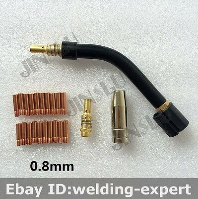 Mb15 15ak 15 Ak Swan Neck Tip 0.8mm 0.030 Kit 23pk Ergoplus Binzel Mig Gun