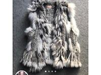 Real fur rabbit fur gillet - small