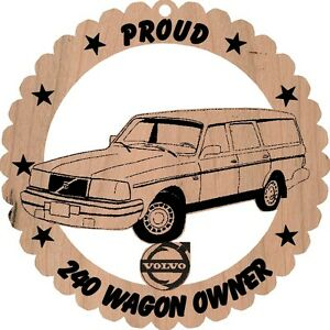 Volvo-240-Stationwagon-Wood-Ornament-Engraved