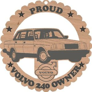 Volvo-240-Sedan-Wood-Ornament-Engraved
