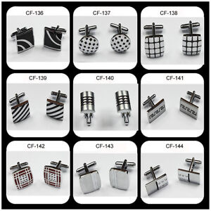 Wholesale-Lots-Cufflinks-silver-Dress-Wedding-Cuff-links-1-20pairs-45styles