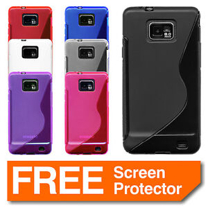 Colour-Gel-Silicone-Case-Cover-for-Samsung-Galaxy-S2-i9100-Screen-Protector