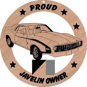 AMC-1972-Javelin-Wood-Ornament-Engraved