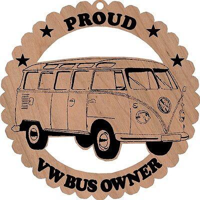 Volkswagen Vw Transporter Bus Wood Ornament Engraved