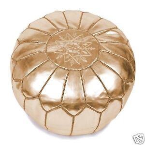 Gold-Moroccan-Pouf-Ottoman-Footstool-Poof-Poufs-Pouffe-Pouffes