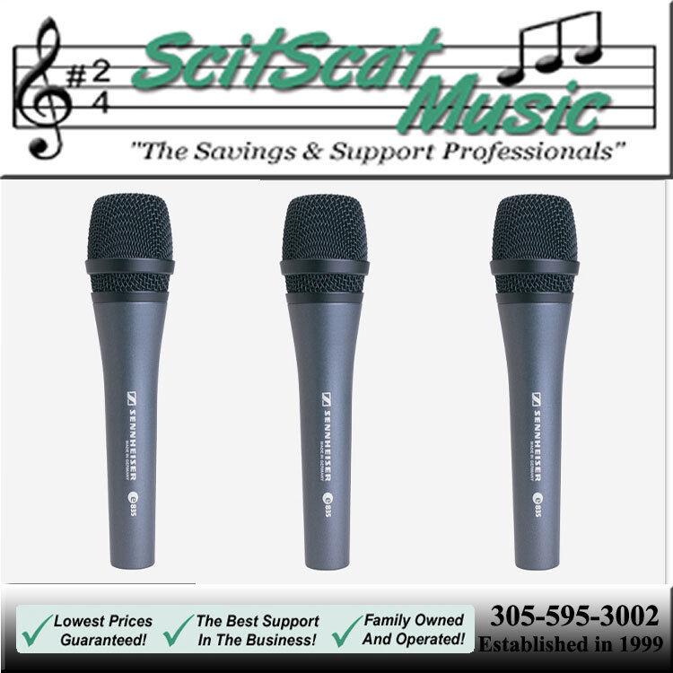 Микрофон New Sennheiser e 835 Three Pack (3 Mics) 3 clips, 3 pouches Vocal Stage Karaoke