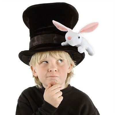 Children's Size Magician W/rabbit Hat Fun Halloween Anytime