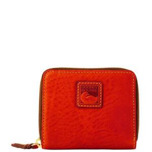 Dooney-Bourke-Florentine-Small-Zip-Around-Wallet-Red