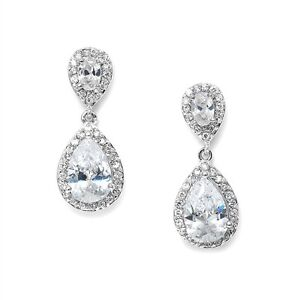 Bridal Wedding Swarovski Crystal Diamante Drop Earrings