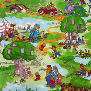 Sewing Fabric - Berenstain Bears Fabric (5 Different prints)