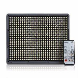 Aputure Amaran HR672W /672S LED Video Light CRI95+w/ Remote + 2pcs Battery(970) +Power Supply +Colour Plate