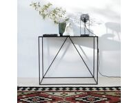 Console metal side table black