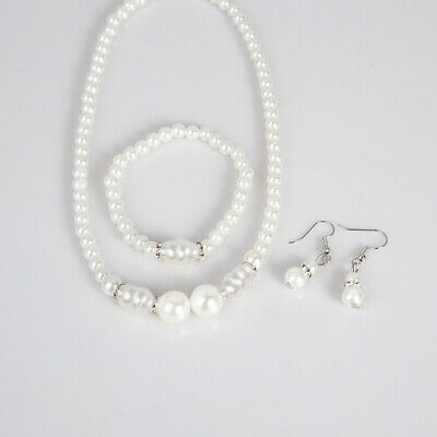 Jewelry Set Fashion Wedding White Akoya Shell Pearl Necklace + (Akoya Pearl Jewelry Set)
