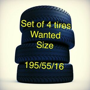 Wanted: tires, 195/55/16Mini Cooper s tires