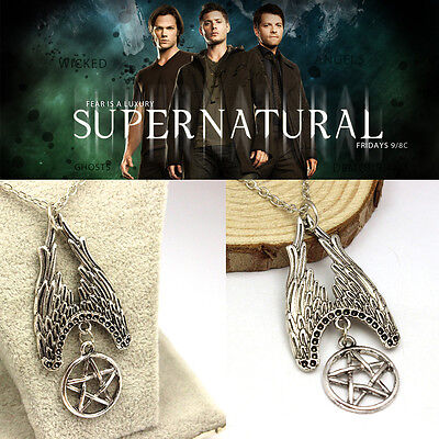 Free Shipping Supernatural inspired angel wings Necklace