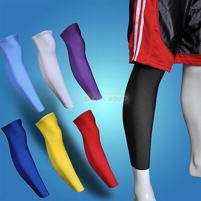 Adult Child Sport Football Basketball Cycling Strech Leg Knee Long Sleeve 7color