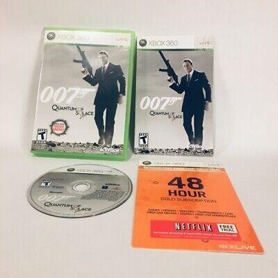 James Bond 007: Quantum of Solace (Microsoft Xbox 360, 2008) Case & Instructions