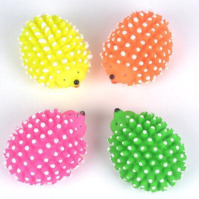 Dog Pet Chew Toy Hedgehog Sound Ball Squeaky Plush Sound Teeth Clean Play