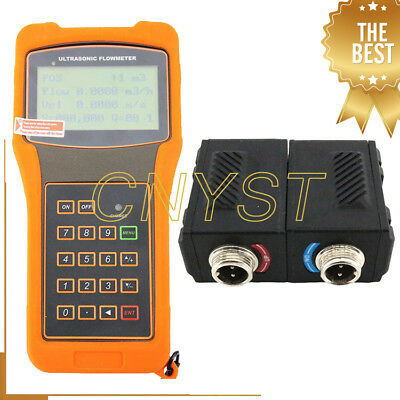 Ultrasonic Flow Meter Flowmeter With High Temperature Transducer Tm-1-ht