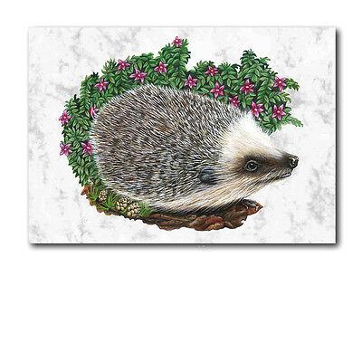Hedgehog Birthday Greetings Card (Ref eb258a6) Animal British Wildlife