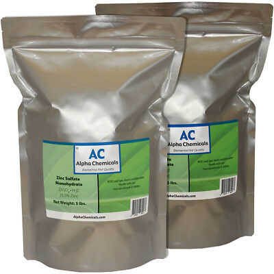 Zinc Sulfate Monohydrate Powder - 35.5 Zn - 10 Pounds