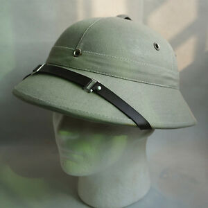 Safari Pith Gray Helmet Jungle Hunting Explorer Hat Ca