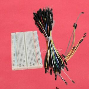 Prototype-Board-Electronic-Deck-400-65pcs-Breadboard-Tie-line-Jumper-cable