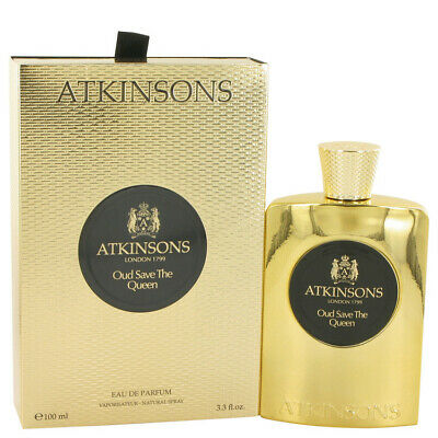 Oud Save The Queen by Atkinsons 3.3 oz EDP Spray Perfume for Women New in Box