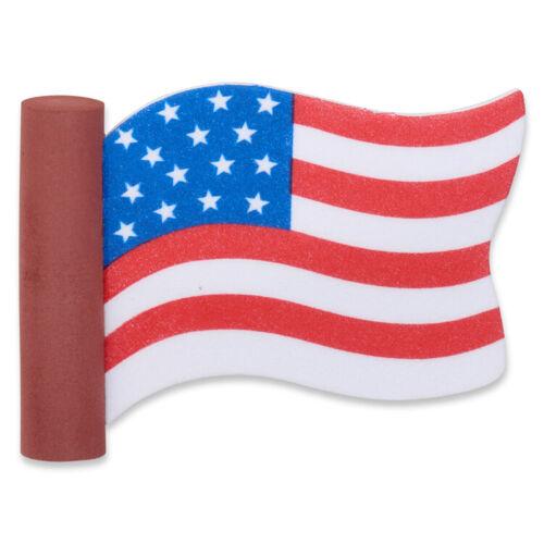 CoolBalls Waving USA American Flag Antenna Topper / Desktop Stand (Fat Antenna)