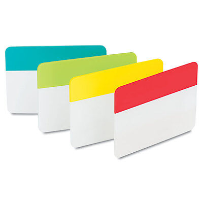 Post-it Durable File Tab Write-on 24pack Aqua Lime Yellow Red Tab