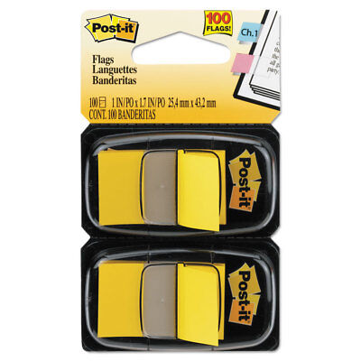 Post-it Standard Page Flags in Dispenser Yellow 100 Flags/Dispenser 680YW2