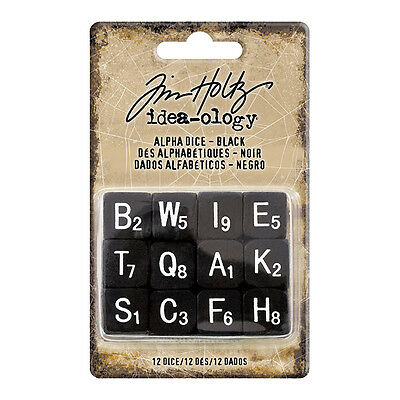 Tim Holtz Idea-ology Alpha Dice Black Halloween th93620  2017 Advantus (Halloween Crafts Ideas 2017)