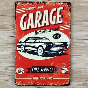 "Wall pictures "" Garage Car here"" vintage metal signs Sydney City Inner Sydney Preview"
