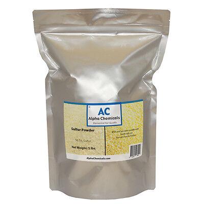 5 Pounds - Sulfur - 99.5 Pure - Powder