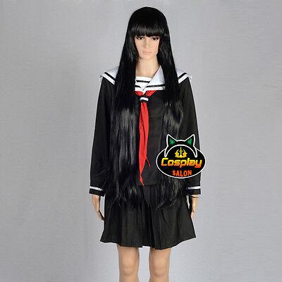 Anime Hell Girl School Uniform Black Party Japan Skirt Dress+Tie Cosplay Costume - Anime Cosplay Costume