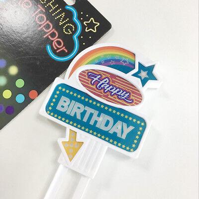 Flashing Cake Topper Happy Birthday, Birthday Party Decorations  - Flashing Happy Birthday