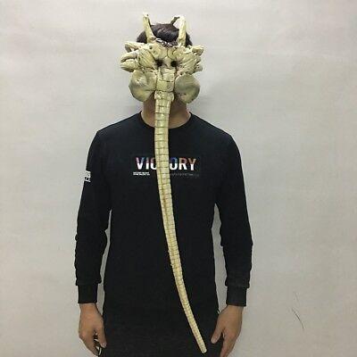 Alien Props For Halloween (Halloween Mask for Adult Alien Facehugger Mask Latex Figure Cosplay Props)