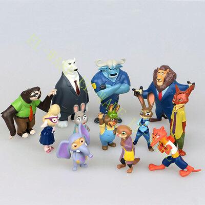 Zootopia Animals 12Judy Hopps Nick Wilde Movie Character Figure Cake Topper Toy