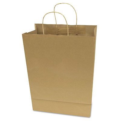 Garvey Premium Brown Paper Shopping Bags Large 17 X 12 X 6.5 50box 091566