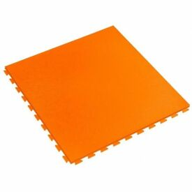 Industrial Garage Flooring Interlocking PVC Heavy Duty Click On Tile - Orange
